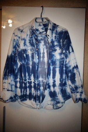 Jeans Hemd in Batik Optik