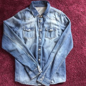 Jeans Hemd in heller Waschung