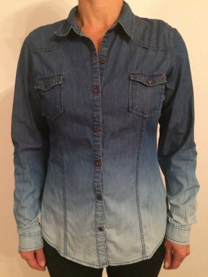 Jeans-Hemd / Jeans-Bluse mit Farbverlauf