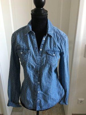 Jeans Hemd mit kleinen Herzen von H&M