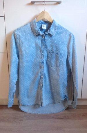 Jeans Hemd Punkte blau/weiß Gr. 34
