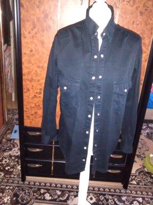 Arizona Camisa vaquera negro Algodón