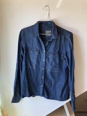 Zara Chemise en jean bleu-bleu foncé