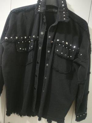 Jeans Hemdjacke mit Nieten
