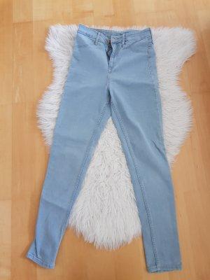 H&M Hoge taille jeans lichtblauw-lichtblauw