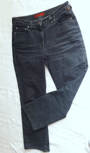 wholesale dealer on feet images of get online Pierre Cardin High Waist Jeans dark blue cotton
