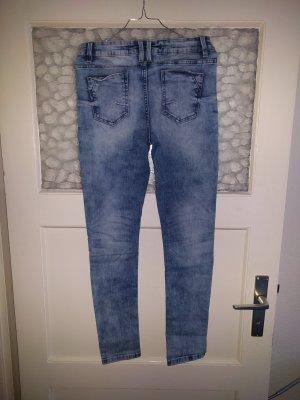 Jeans, high waist, skinny, Größe 36-38