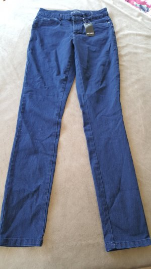 Jeans High Waist Stretch dunkelblau M 38
