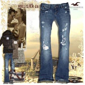 Jeans Hollister destroyed - medium washed Gr. 0 wie 26/34