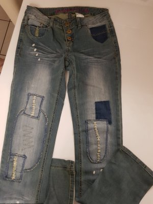 Rainbow Jeans a sigaretta azzurro Cotone