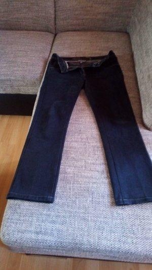 Cecil Pantalón de lino azul oscuro