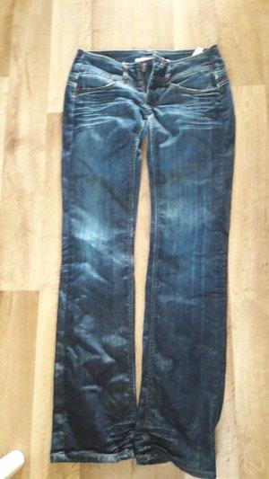 Freeman t. porter Jeans a zampa d'elefante blu scuro