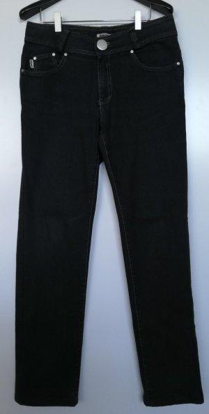 Angels Pantalon taille haute noir-taupe