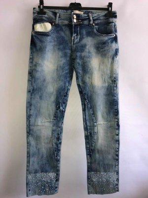 Jeans Hose 3/4 in gr 38/40 Strass Neu