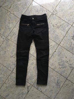 H&M Drainpipe Trousers black-anthracite