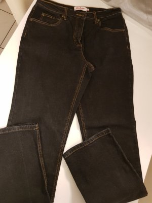 John Baner Denim Flares black cotton