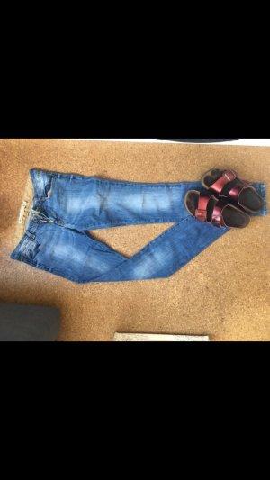 Zara Jeans taille basse bleu foncé