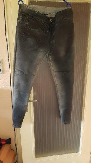 Vaquero rectos gris pizarra