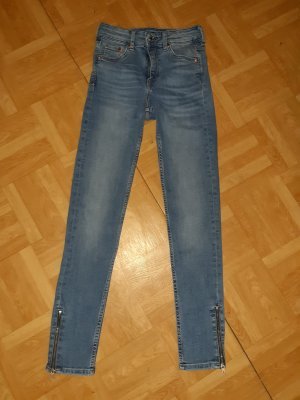 H&M Hoge taille jeans korenblauw