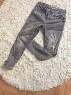 Low Rise jeans lichtgrijs-zilver