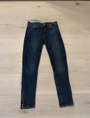 Mango Low Rise jeans donkerblauw