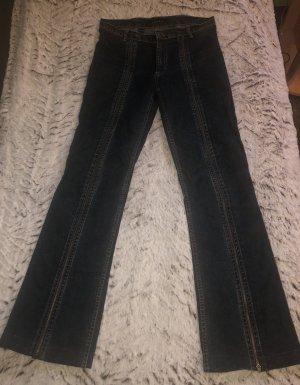 Amisu Jeans vita bassa blu