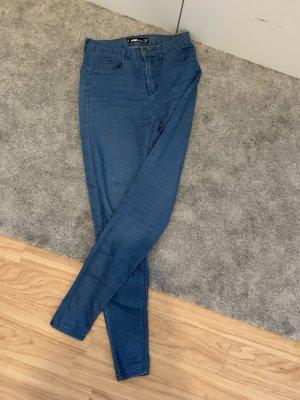 Hoge taille broek blauw