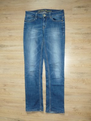 Guess Straight Leg Jeans neon blue