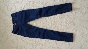 Jeans-Hose Blau mit beiger Naht