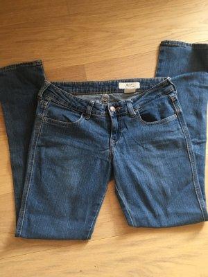 Jeans Hose blau Waist Low Leg Slim Basic 26x30