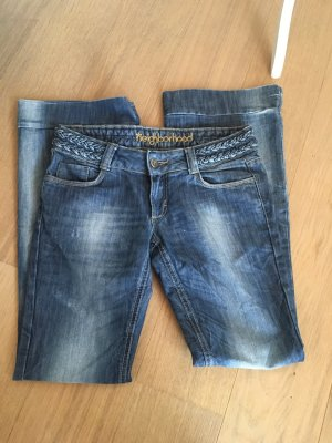 Jeans Hose Boot Cut Denim hellblau washed Gr. 29