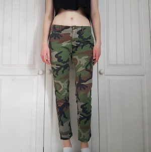 Jeans hose camo camouflage Röhrenhose Röhrenjeans Röhren grün schwarz braun beige military camoflage
