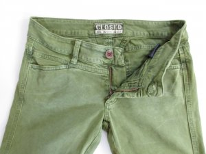 Jeans Hose CLOSED Größe 34 / 36 25 Grün Stretch Skinny Wald Olive Slim Model Pedal Star