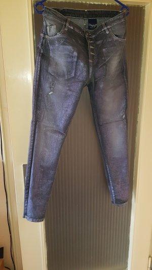 Vaquero rectos violeta grisáceo