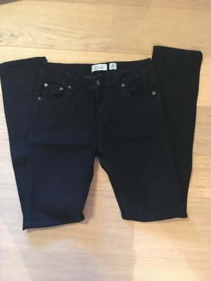 Jeans Hose Denim Basic schwarz slim straight leg Gr. 34 TOP
