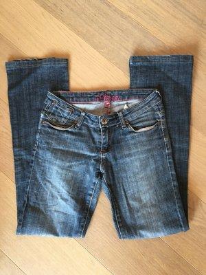 Jeans Hose Denim blau Straight Leg Gr. 25/32