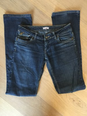 Jeans Hose Denim dunkelblau Boot Cut Gr. 26/34