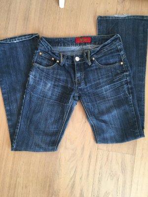 Jeans Hose Denim dunkelblau Boot Cut Gr. 40