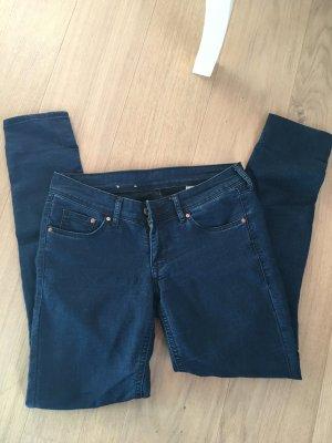 Jeans Hose dunkelblau skinny Basic stretchig Gr. 27x30