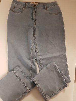 John Baner Pantalón de cinco bolsillos azul pálido Algodón