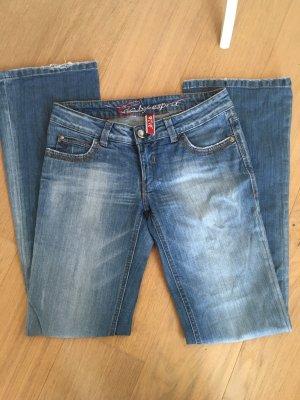 Jeans Hose edc Esprit Boot Cut blau Denim Gr. 28/34