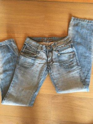 Jeans Hose hell Schlaghose Denim Boot Cut Gr. 26 TOP