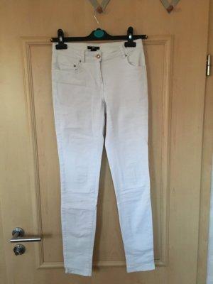 Jeans Hose Highwaist Skinny Weiß Gold Ankle Blogger Frühling Trend