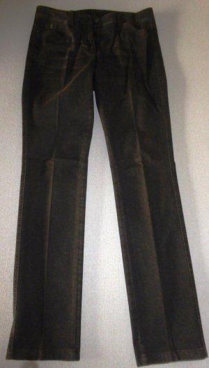 Jeans-Hose in Dunkelbraun mit geradem Bein