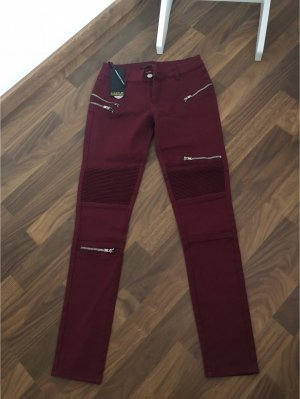 Drainpipe Trousers bordeaux