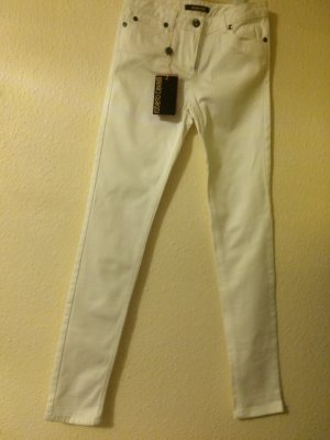 Jeans Hose in Weiß von Roberto Cavalli, NEU, (It. Gr. 40)