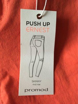 Promod Stretch Trousers salmon