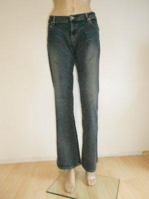 Jeans Hose mit Stickerei