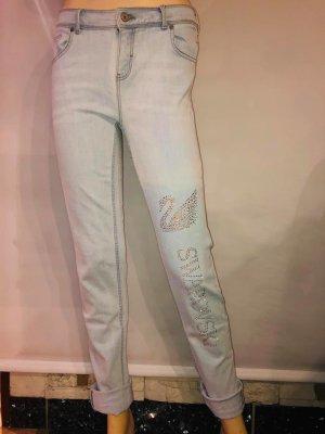 Jeans Hose mit Swarovski Kristallen in gr 38
