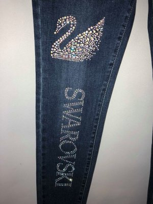 Jeans Hose mit Swarovski Kristallen Neu gr 38/40